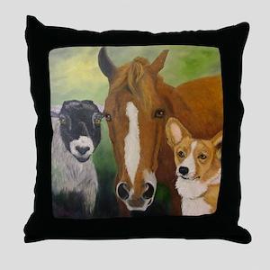 Sarahs Pets 3 Throw Pillow
