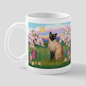 Blossoms & Siamese (#1) Mug