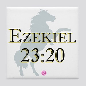 Ezekiel-horse-design-1 Tile Coaster