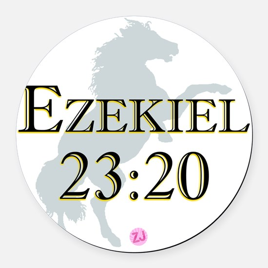 Ezekiel-horse-design-1 Round Car Magnet