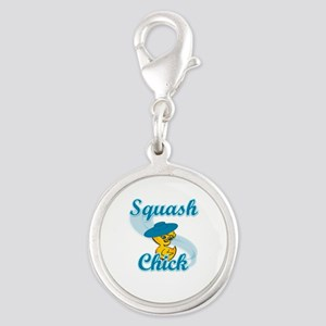 Squash Chick #3 Silver Round Charm