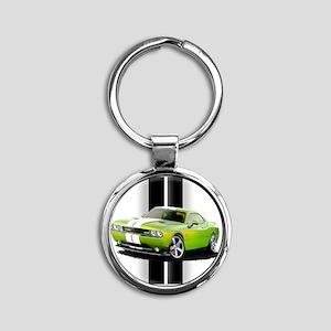 challengergreen Round Keychain