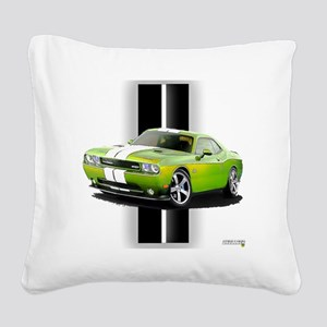 challengergreen Square Canvas Pillow