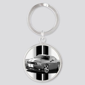 challengergrey Round Keychain