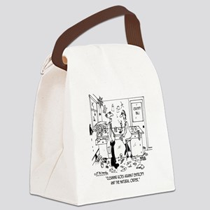 4572_science_cartoon Canvas Lunch Bag