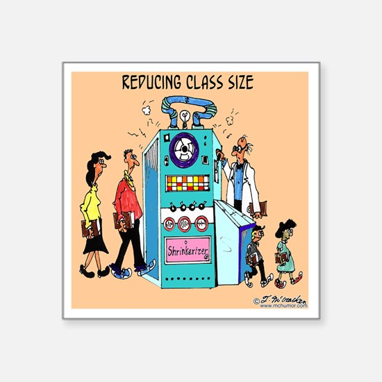 "5847_education_cartoon Square Sticker 3"" x 3"""