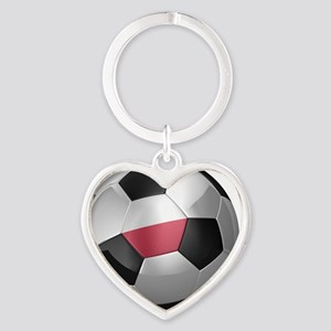 socc_big_poland Heart Keychain
