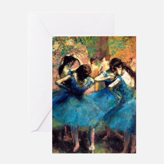 K/N Degas Blue Dancers Greeting Card