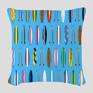 Surfboards Woven Throw Pillow