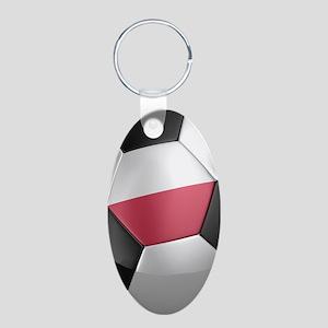 poland_1_iphone_3_ Aluminum Oval Keychain