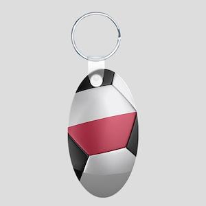 poland_1_iphone_slider_ Aluminum Oval Keychain