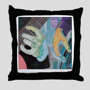 Guitar Hands c shirt Throw Pillow