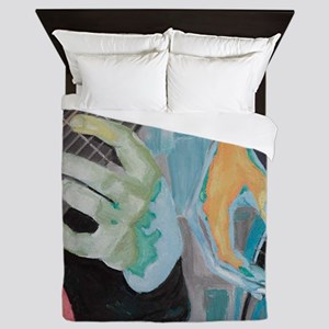 Guitar Hands c shirt Queen Duvet