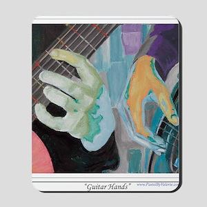 Guitar Hands c shirt Mousepad