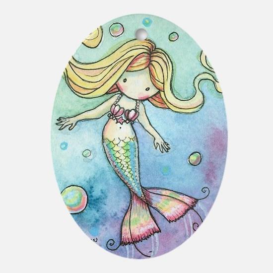 aceo cutie mermaid 2 Oval Ornament