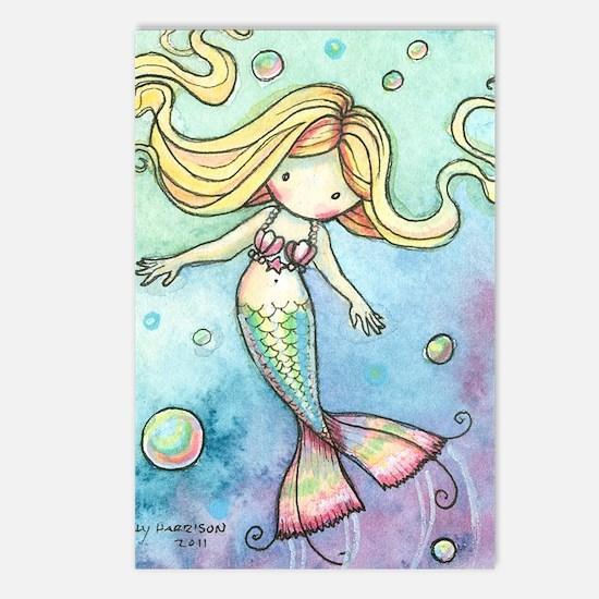 aceo cutie mermaid 2 Postcards (Package of 8)