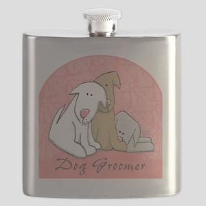 DOGwalkergroomerPINK Flask