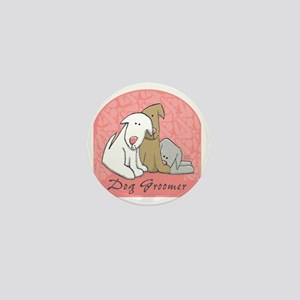 DOGwalkergroomerPINK Mini Button