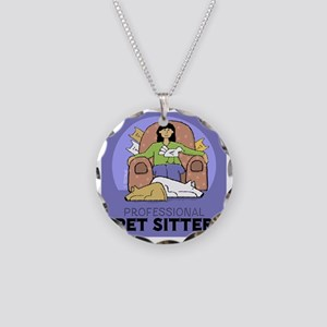 PETsitter Necklace Circle Charm