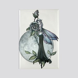 Midnight Rose Fairy Fantasy Art b Rectangle Magnet