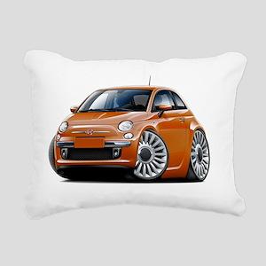 Fiat 500 Copper Car Rectangular Canvas Pillow