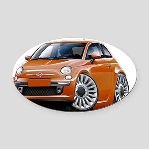 Fiat 500 Copper Car Oval Car Magnet