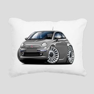Fiat 500 Grey Car Rectangular Canvas Pillow
