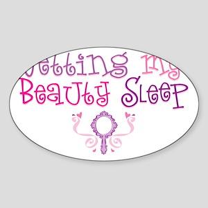 GettingMyBeautySleep Sticker (Oval)