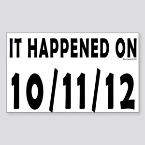 10/11/12 Sticker (Rectangle 10 pk)
