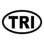 Triathlon Oval Sticker