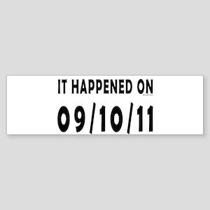 09/10/11 Sticker (Bumper 10 pk)