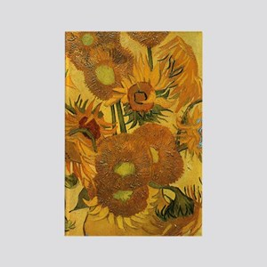 441 VG 15 Sunflowers Rectangle Magnet