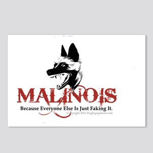 Malinois -OVL sticker 2 Postcards (Package of 8)