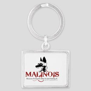 Malinois -OVL sticker 2 Landscape Keychain
