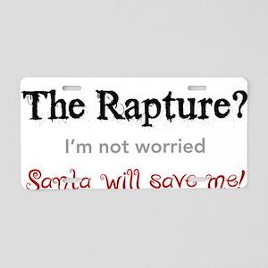 rapture-santa Aluminum License Plate