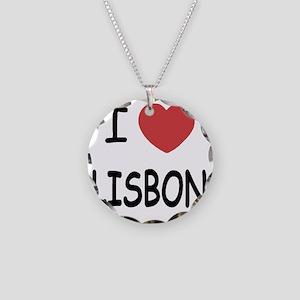 LISBON Necklace Circle Charm