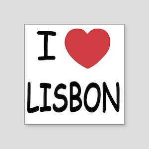"LISBON Square Sticker 3"" x 3"""