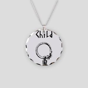 Thursdays Child Necklace Circle Charm