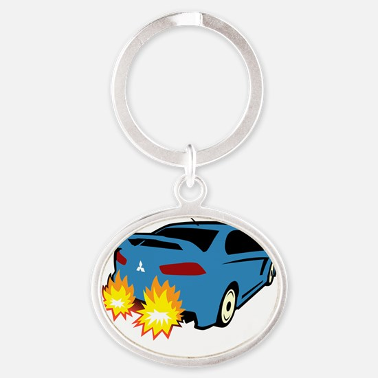 Explodingevo.com Oval Keychain