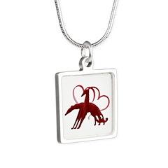 Borzoi Holiday Love Necklaces