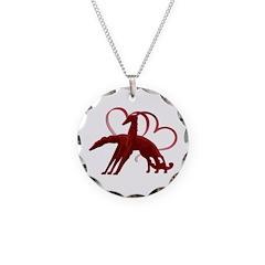 Borzoi Holiday Love Necklace