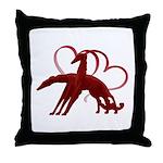 Borzoi Holiday Love Throw Pillow