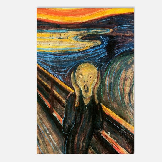 scream Postcards (Package of 8)