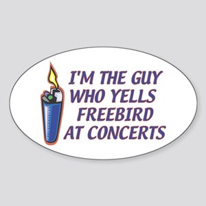 Freebird Guy Oval Sticker