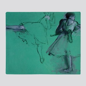 degas dancers at the barre tote bag Throw Blanket