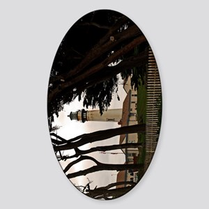 (11p) Pigeon Point Fence Sticker (Oval)