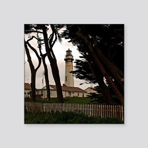 """(15s) Pigeon Point Fence Square Sticker 3"""" x 3"""""""