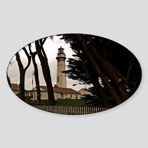 (12) Pigeon Point Fence Sticker (Oval)