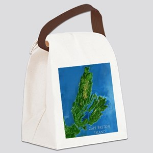 CB biggest w water blurred + labe Canvas Lunch Bag