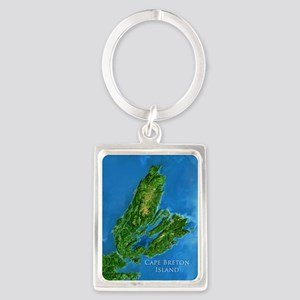 CB biggest w water blurred + lab Portrait Keychain